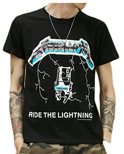 M&S&W Men's Fashion 3D Printing Clothing Plus Size Hip Hop Basic T-Shirt Black S ()