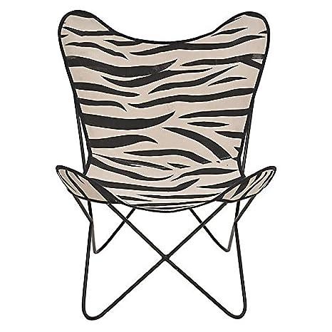 DFK Design Butterfly Zebra Relax sillón Diseño Salón Sillas ...