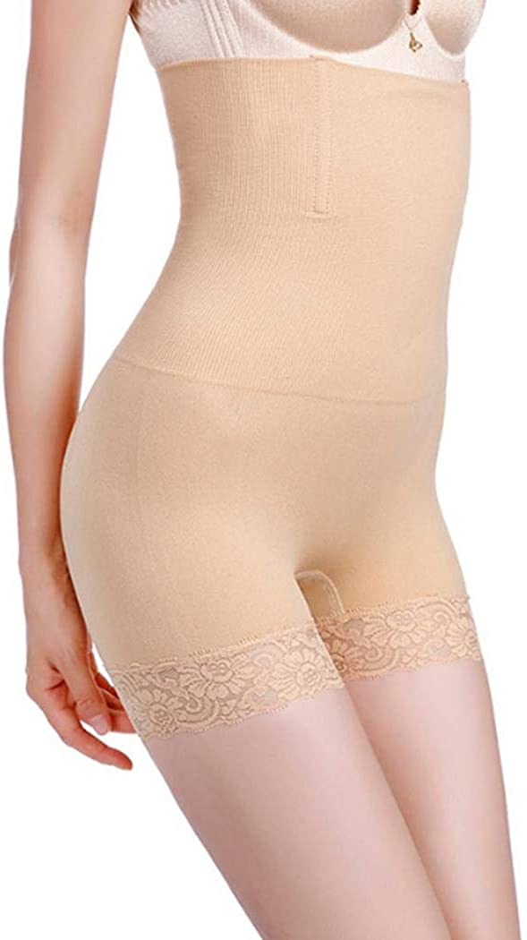 Sioneit Damen Mode High Waist Lace Patchwork Bauch H/öschen Taillenmieder