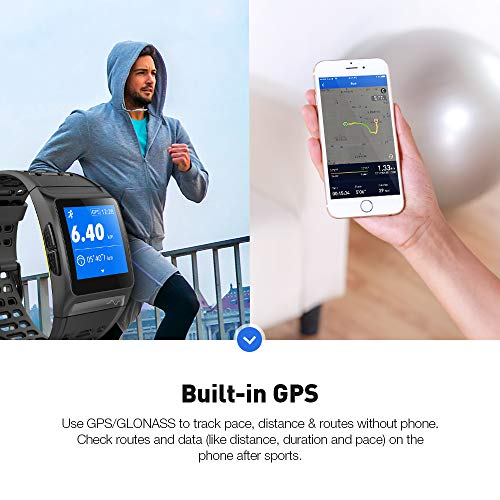 GPS Running Watch, Smart Watch Fatigue Analysis Heart Rate/Sleeping/ECG Monitor IP68 Waterproof Fitness Tracker with Multi-Sports Mode Message Notifications Color Touch Screen For Android and IOS by DR.VIVA (Image #1)