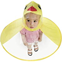 YIY - Impermeable para niños, diseño de dibujos animados poco degradable, reciclable, paraguas de lluvia mágico, manos…
