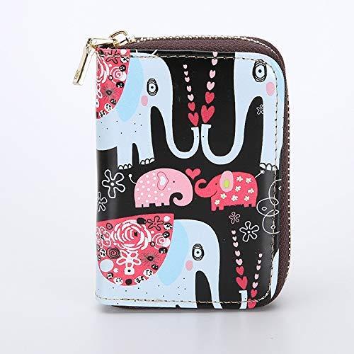 YOIOY - Bolso de Mano Largo con Cierre para Mujer, diseño Coreano con Personalidad, tamaño Mini, Delgado, Tarjeta de...