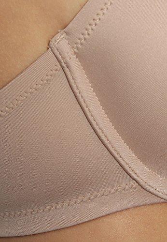 3er Pack T-Shirt-BHs mit Bügel Hautfarben braboo Büstenhalter glatt nahtlos gepolstert Dessous Damen Nude 75C 70C 80B 85B 80C 85C