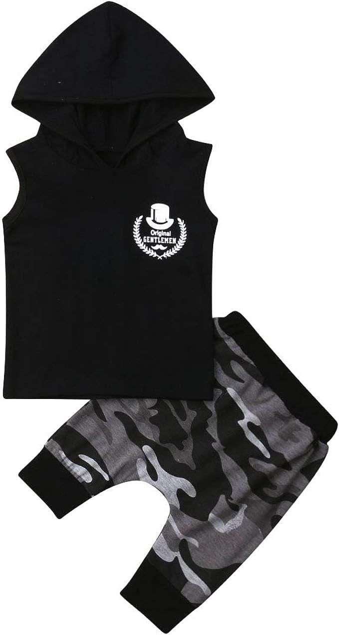 chaleco pantalones cortos con estampado de cactus N //A Conjunto de ropa de verano para reci/én nacido sin mangas