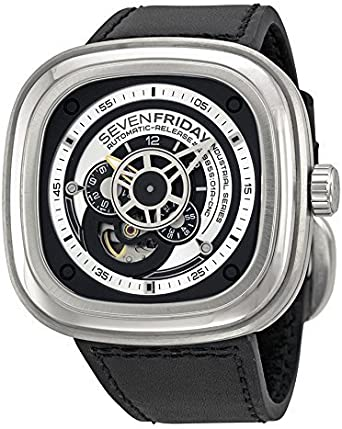 Seven Friday P1 – 1 Watch, Leather Strap Black