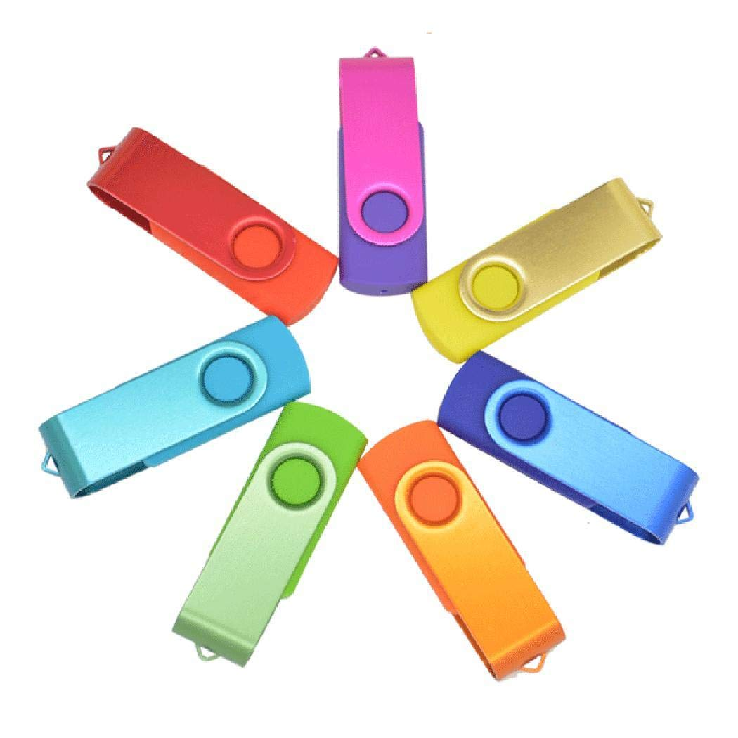 kiloid 16GB USB2.0 Flashing Memory Stick Pen Drive Storage Rotating U Disk USB Flash Drives