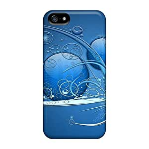 Iphone High Quality Cases/ Blue Abstract Widescreen YnM30542JvLD Cases Covers For Iphone 5/5s