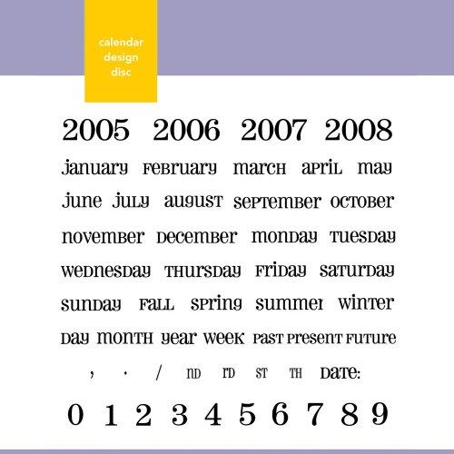 (Xyron Calendar Themed Design Disc for Xyron Design Runner)