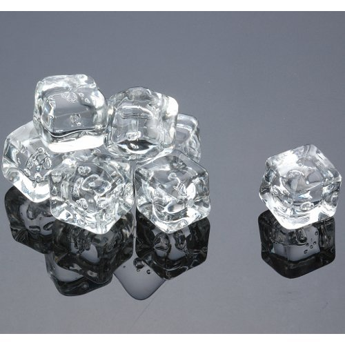 Prodyne Enterprises Acrylic Ice Cubes Square Shape, 2-Pou...