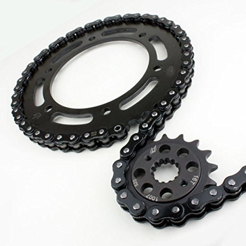 Driven Racing Black Evo Steel Power Up Kit -1/+2 Chain and Sprocket Set for Suzuki GSXR 750 (2011-2015)