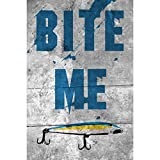 Bite Me Wall Shelf Decor Fishing Sign – 4 Pack Signs For Sale