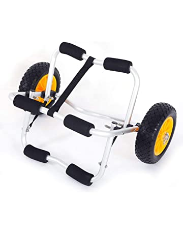 Taltintoo20 Bend Kayak Canoe Boat Carrier Dolly Trailer Trolley Transport Cart Wheel Yellow, Material PU