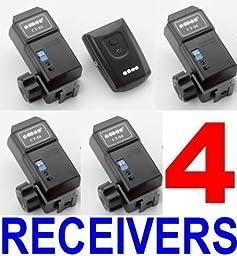 Wireless CT-04 Flash Trigger with 4 Receivers for Nikon SpeedLite, Canon SpeedLite, Olympus, Pentax, Sigma, Sunpak, Vivitar and Other Flashes