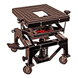 Pit Posse PP2551S Motorcycle Cycle Dirt Bike ATV Scissor Floor Jack Lift Center Stand With Wheels 2Yr. Warranty