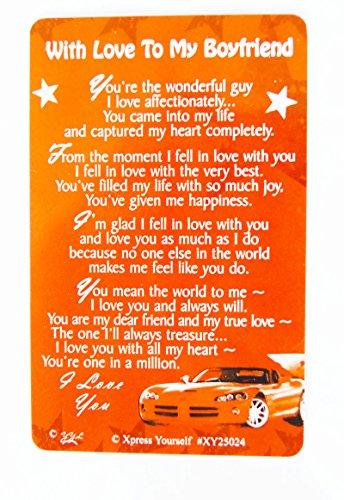 Boyfriend Keepsake Wallet Card Birthday Anniversary Him Mens Love Quotes Gift