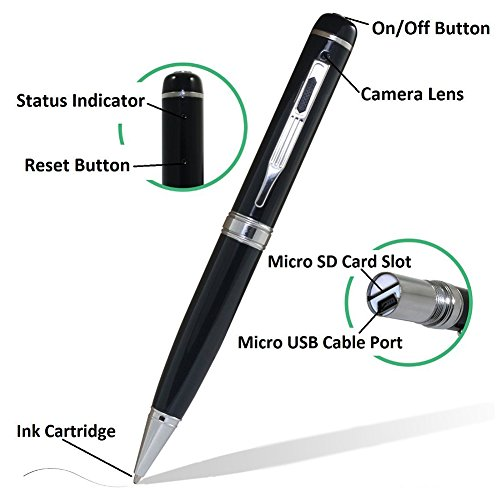 pretty nice b6659 0d737 Bescar Multi-function Hidden Camera Spy Pen Camera -Full HD - Import It All