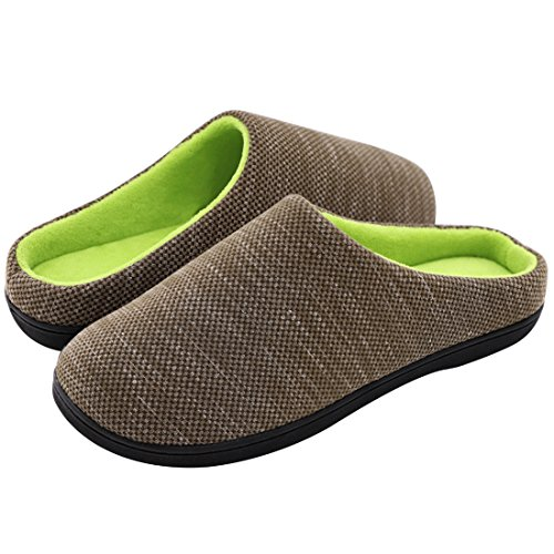 RockDove Men's Birdseye Knit Memory Foam Slipper, Medium, US