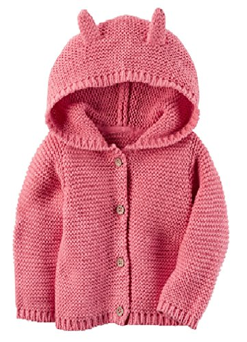 Carter's Baby Textured Bear Hoodie Pink 3 Months