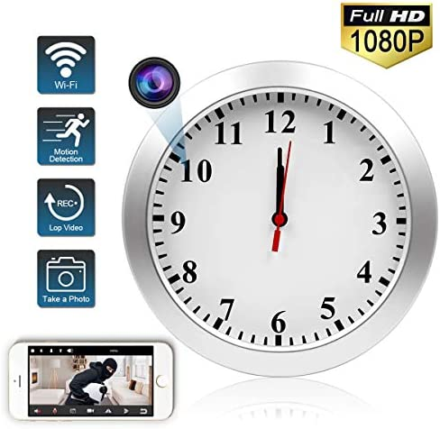 Spy Camera Clock WIFI Hidden Camera Wall Clock TTCDBF HD 1080P Nanny Cameras Home and Office Wireless hidden camera security motion detection remote viewing support IOS Android
