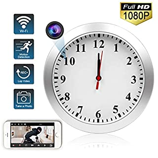 TTCDBF Hidden Camera Wall Clock, HD 1080P Wireless Wifi Mini Hidden Security Camera Nanny Cam with Motion Detection, Real-Time Video for Home Office