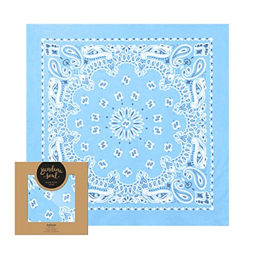 Light Blue Bandana - 5