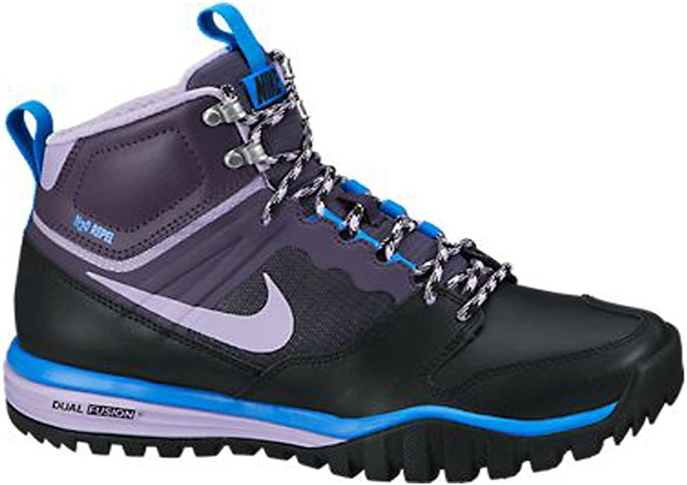 NIKE - Dual Fusion Hills Botas tobilleras con cordones Para mujer , negro (Black/Dark Raisin/Hyper Grape), 7 B(M) US: Amazon.es: Zapatos y complementos