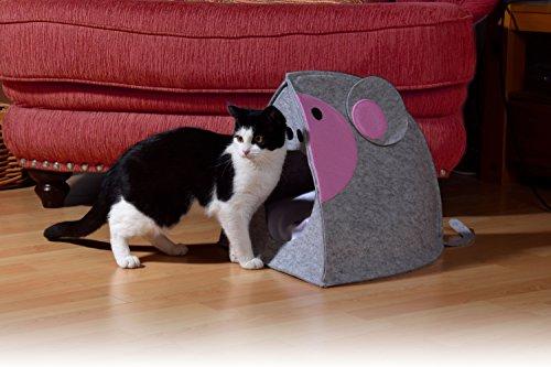 dobar &apos 60173 Acogedor de Fieltro Cueva Ratón para Gatos y Perros con cojín, Exclusivo Gatos y Perros Cama, 41 x 42 x 37 cm, Gris: Amazon.es: Productos ...