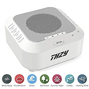 Baby White Noise Sound Machine with 2G TF Card, Kids Sound Spa Sleeping Machine for Home & Travel丨5 Unique Relaxing & Soothing Nature Sounds (White Noise Machine)
