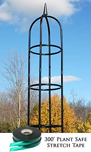 Classic Obelisk - Gardman Classic Garden Obelisk with Stretch Tie Wrap Package