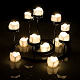 LED Tealights, AGPTEK Flameless Smokeless Candles Battery Operated Lot 6 PCS for Wedding/Party Decorations - warm white- 6 pack- flickering