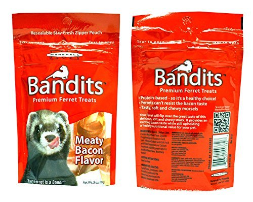 Marshall-Bandits-Premium-Ferret-Treats-Variety-Pack-5-Flavors-Chicken-Raisin-Peanut-Butter-Banana-and-Meaty-Bacon-3-Ounces-Each-5-Total-Pouches