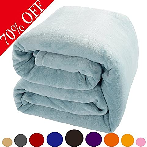 Shilucheng Fleece Soft Warm Fuzzy Plush Lightweight King (104-Inch-by-90-Inch) Couch Bed Blanket, - Hill Home Office Collection