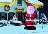 New 8 FT Inflatable Plush Santa Clause With 2pcs Disco Lights Christmas X'mas Decoration