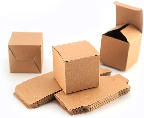 RUBY - 50 Cajas de papel kraft, cajas para boda regalo, para guardar bombones (5cm*5cm): Amazon.es: Hogar
