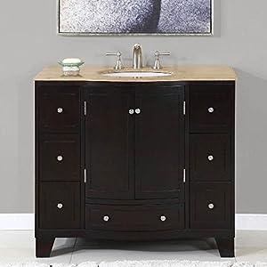 40 In Naomi Single Sink Bathroom Vanity Expresso White