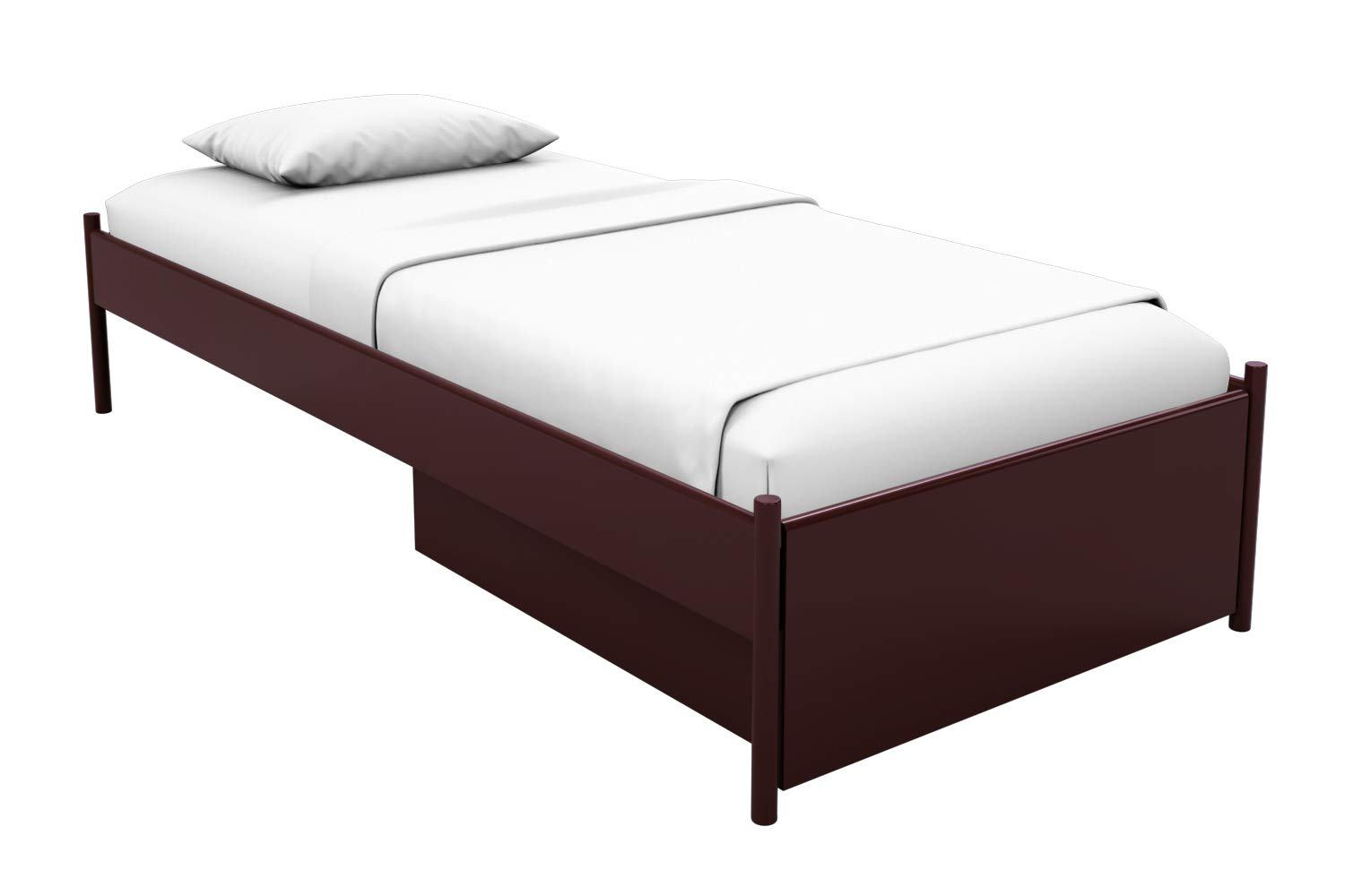 Godrej Interio Liva Single Size Bed with Storage (Shell Wine Red)
