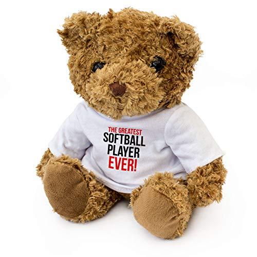 Greatest Softball Player Ever - Teddy Bear - Cute Soft Cuddly - Award Gift Present Birthday Xmas ()