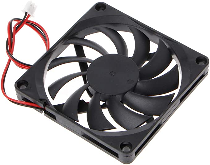 Yintiod 8010 - Ventilador para PC (24 V, 2 Pines, 80 x 80 x 10 mm ...