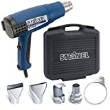 Steinel HL 1810 S General-Purpose Heat Gun Kit, Three Stage Professional 120 V Hot Heat Tool with Duratherm Heating Element, 1400 W Heating Tool with cool air stage, Non-slip soft stand and Industrial grade rubber power cord, including a Variety of Access