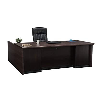 Durian Contemporary Theon Office Desks Engineered Wood (Smoke Oak, Brown)