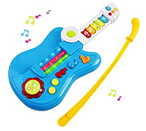 toy guitar battery 3 in 1 electric kids guitar toy with violin stick and piano. Black Bedroom Furniture Sets. Home Design Ideas