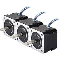 STEPPERONLINE 3 PCS Nema 17 Stepper Motor 26Ncm 12V 0.4A w/ 1m Cable & Connector for 3D Printer DIY CNC