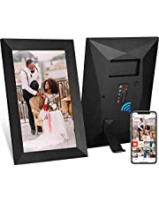 JHZL 10.1 Inch 16GB Smart WiFi Digital Picture Frame, Danish Design Frameo App Send Photos or Small Videos from Anywhere, Touchscreen, IPS 1280x800 LCD Panel (10.1 inch Black)