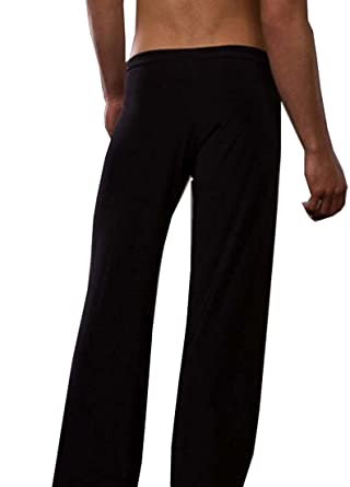 TESOON Mens Super Soft Ice Silk Yoga Long Pants Casual Sleep Pants