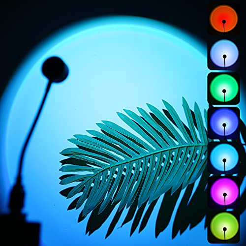 WekiiStar sunset lamp,Sunset Projection Lamp,Bunte Sonnenuntergangslichter,13 Modi Projektionslampe, USB-Sonnenuntergangslicht,360 ° Drehung,USB-Lichter, Dekoration Thema Party