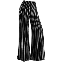Arolina Women's Stretchy Wide Leg Palazzo Lounge Pants(Polka Dot,3XL)