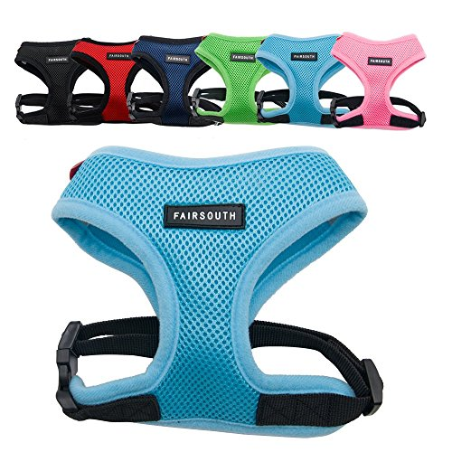 Charles Nylon Vest - FAIRSOUTH Soft Air Mesh Harness for Dogs/Puppies