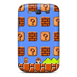 Hot Design Premium Tpu Case Cover Galaxy S3 Protection Case(super Mario Bros)