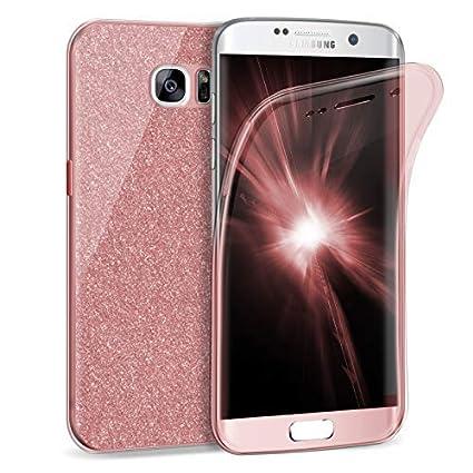 Zhinkarts Handy Hülle für Samsung Galaxy S7 Edge - Full Body 360 Grad TPU Silikon Crystal Case - Komplett Schutzhülle Cover i