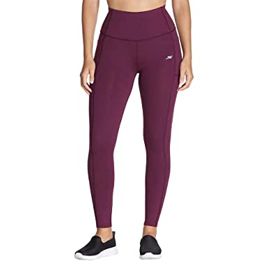 Skechers Performance Ladies Go Walk Active Tight (L, Wine)